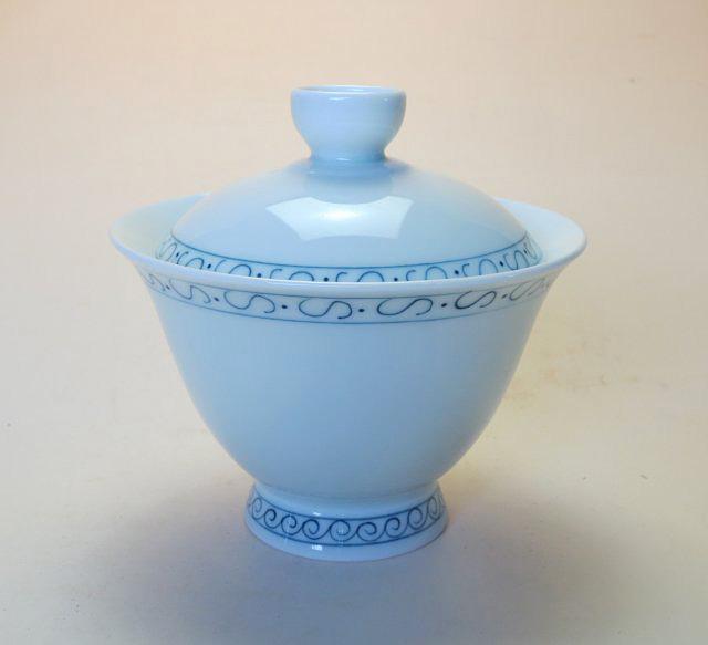 【中国茶器】手描き高台如意蓋碗B