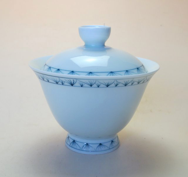 【中国茶器】手描き高台如意蓋碗A