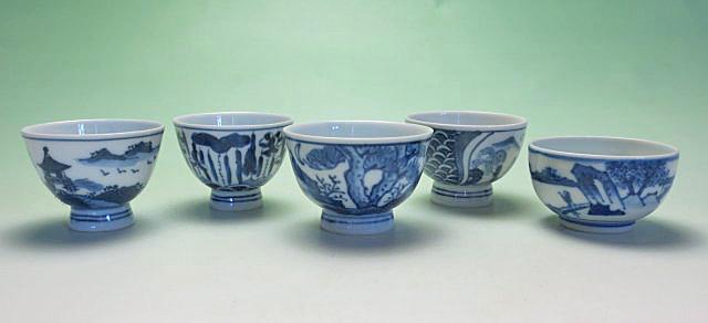 【中国茶具】煎茶碗(呉須)五種