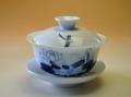 【中国茶具】景徳鎮手描き蓋碗(蓮花)