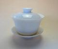 【中国茶具】白玉蓋碗