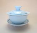 【中国茶具】青線白磁蓋碗