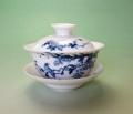 【中国茶具】景徳鎮白磁蓋碗(藤・鳥)