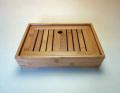 【中国茶具】天然竹製角型茶盤(小)