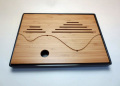 【中国茶具】竹製角型茶盤(樹脂トレー)