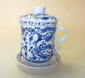 【茶漉し付きマグカップ】青花マグカップ