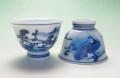 【中国茶具】煎茶碗(山水呉須)