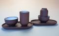 【中国茶具】紫砂製対杯(杯托付)2客セット