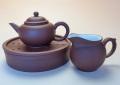 【中国茶具セット】紫泥紫砂壺・茶海・茶盤三点セット