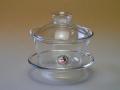 【中国茶具】耐熱ガラス蓋碗