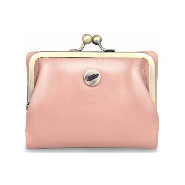 【Plume/プリューム】レディース二つ折財布(がま口タイプ/ピンク)FILE002-PK【Le cheval aile/シュヴァルエレ】【送料無料】<バッグ>