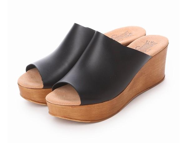 【SALE/16%OFF】シンプルサボサンダル(ブラック)bontre-65325-BK【BONTRE(ボントレ)】【送料無料】<シューズ>