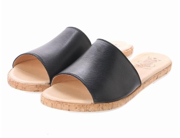 【SALE/30%OFF】コルクフラットミュールサンダル(ブラック)bontre-73001-BK【BONTRE(ボントレ)】【送料無料】<シューズ>