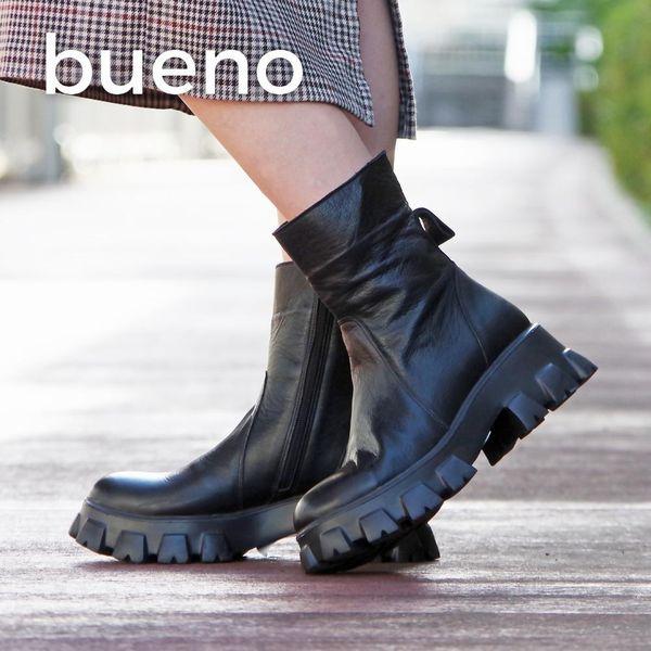 【BUENO/ブエノ】レースアップボリュームソールブーツ(レディース/ブラック)(bueno-R5600)【送料無料】<シューズ>