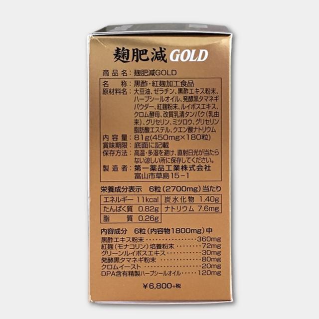 麹肥減GOLD商品画像その4