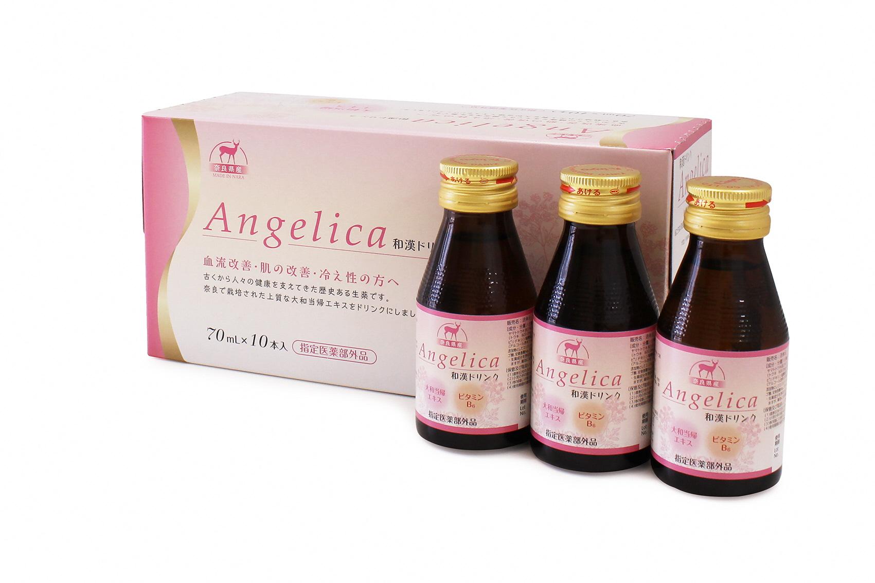 和漢 ドリンク アンジェリカ  大和当帰 ビタミンB6 漢方 血流改善 冷え性 対策 Angelica 指定医薬部外品