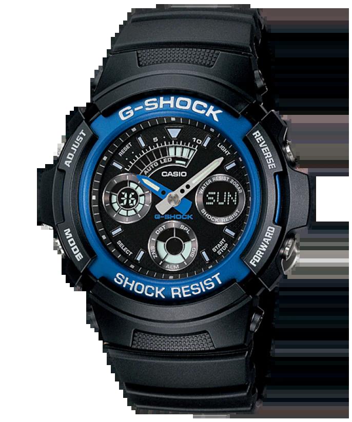 G-SHOCK AW-591-2AJF カシオ腕時計ブラック×ブルー
