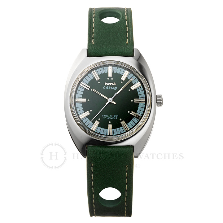 Chragiチラグ インド手巻き腕時計HMTエイチエムティー H.CH.35.GR.L