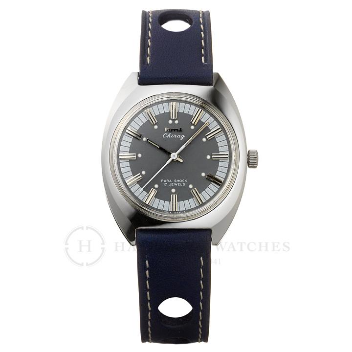 Chragiチラグ インド手巻き腕時計HMTエイチエムティー H.CH.35.SA.L