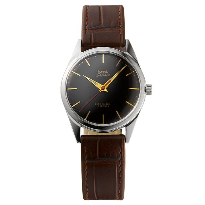 JANATAジャナータ インド手巻き腕時計HMTエイチエムティー H.JA.34.BKG.L