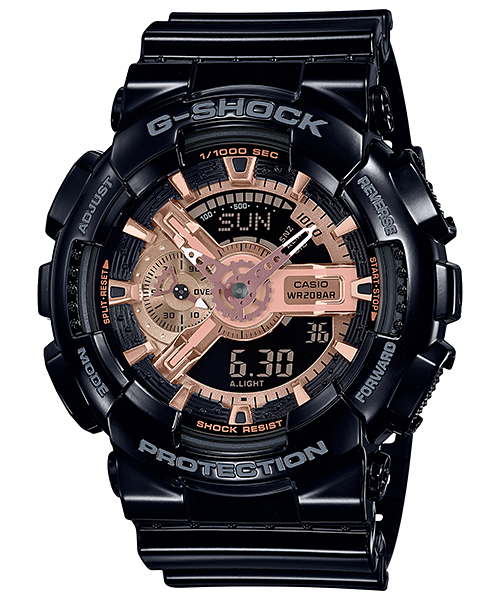 G-SHOCK GA-110MMC-1AJF カシオ腕時計ブラック×ローズゴールド