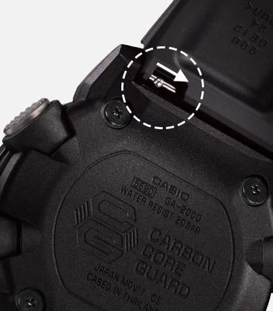 G-SHOCK GA-2000-1A9JF ブラック×イエロー|カーボンコアガード写真3