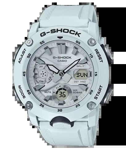 G-SHOCK GA-2000S-7AJF カシオ腕時計ホワイト|カーボンコアガード