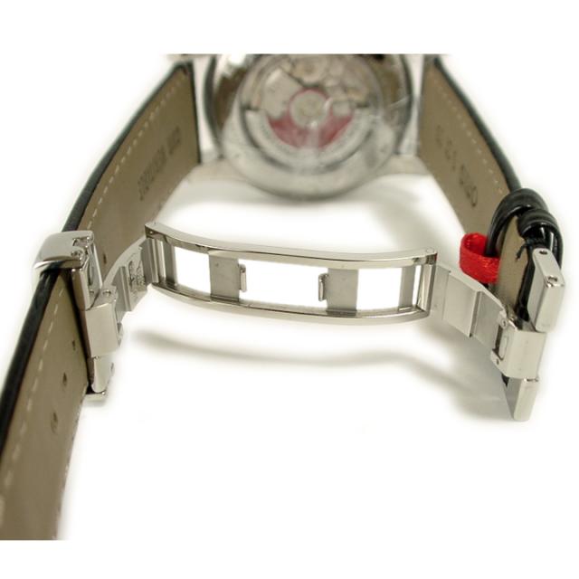 Dバックル両開きtype1時計ベルトに取り付けた状態