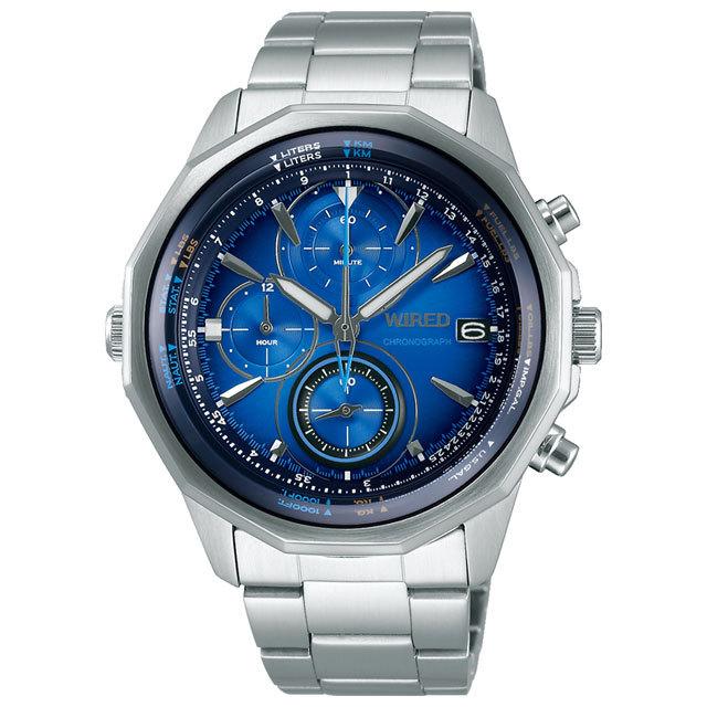 セイコー・ワイアード・ザ・ブルー男性用腕時計クロノグラフAGAW439
