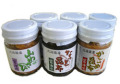 北海道特選 山わさびCセット 瓶詰6本(醤油漬、なっと昆布、がごめ昆布 各2本)