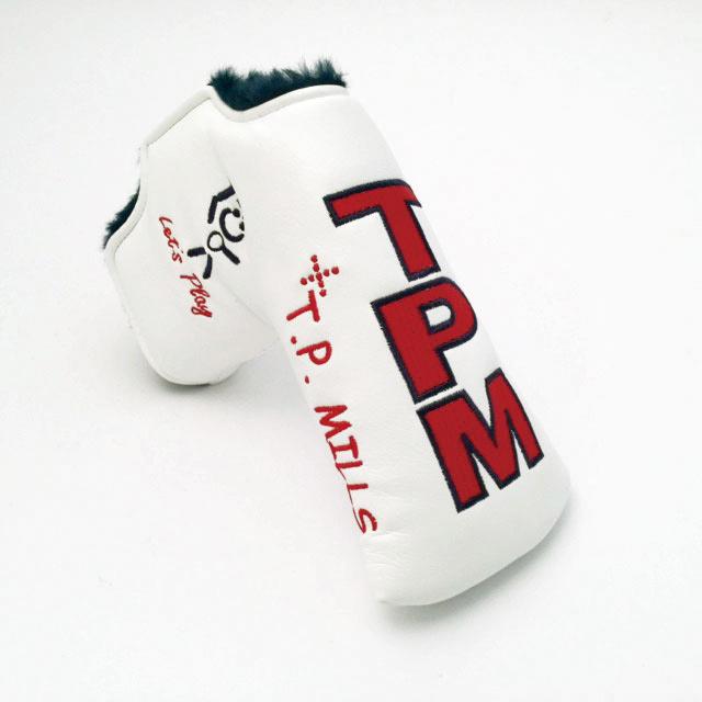 【T.P. Mills】 パター カバー(レッツ プレイ - ホワイト)