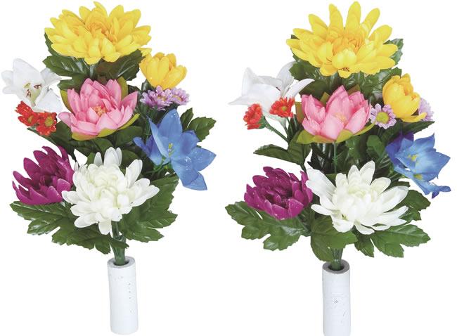 <光触媒加工なし>光の楽園仏花菊2個セットN【アートフラワー 造花 】(111a20n)