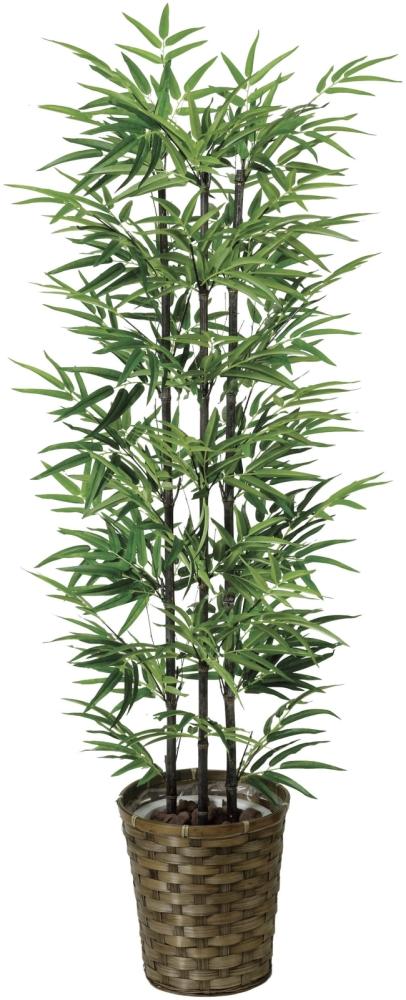光触媒 光の楽園黒竹 1.35m【インテリアグリーン 人工観葉植物】(178a230)