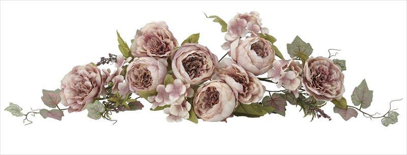 光触媒 光の楽園 キャベジローズスワッグMA 【アートフラワー 造花 】 (2079a35)