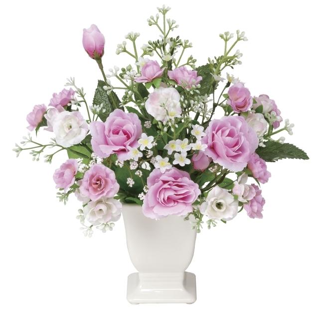 光触媒 光の楽園リトルローラ【アートフラワー 造花 】(ラッピング不可)(338a30)