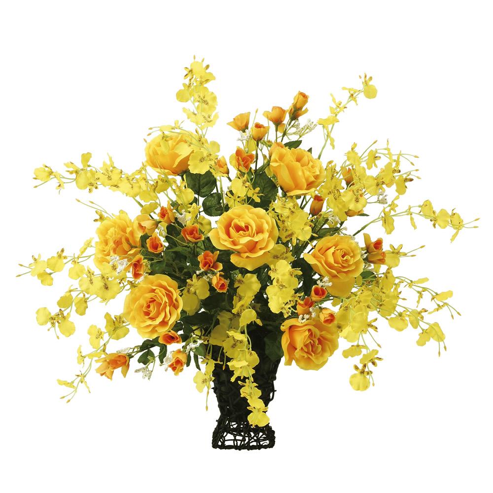 光触媒 光の楽園ゴールドエース【アートフラワー 造花 】(37a100)