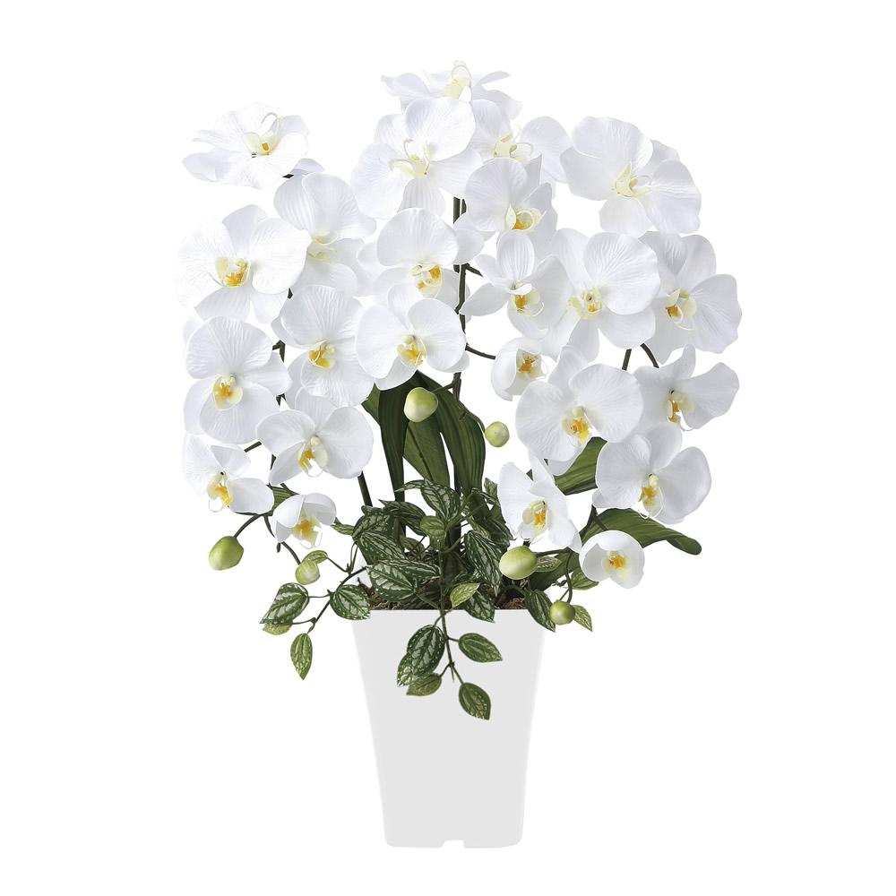 光触媒 光の楽園 プリンセス胡蝶蘭W 【アートフラワー 造花 】 (662g50)
