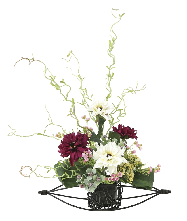 光触媒 光の楽園丹頂【アートフラワー 造花 】(670a80)