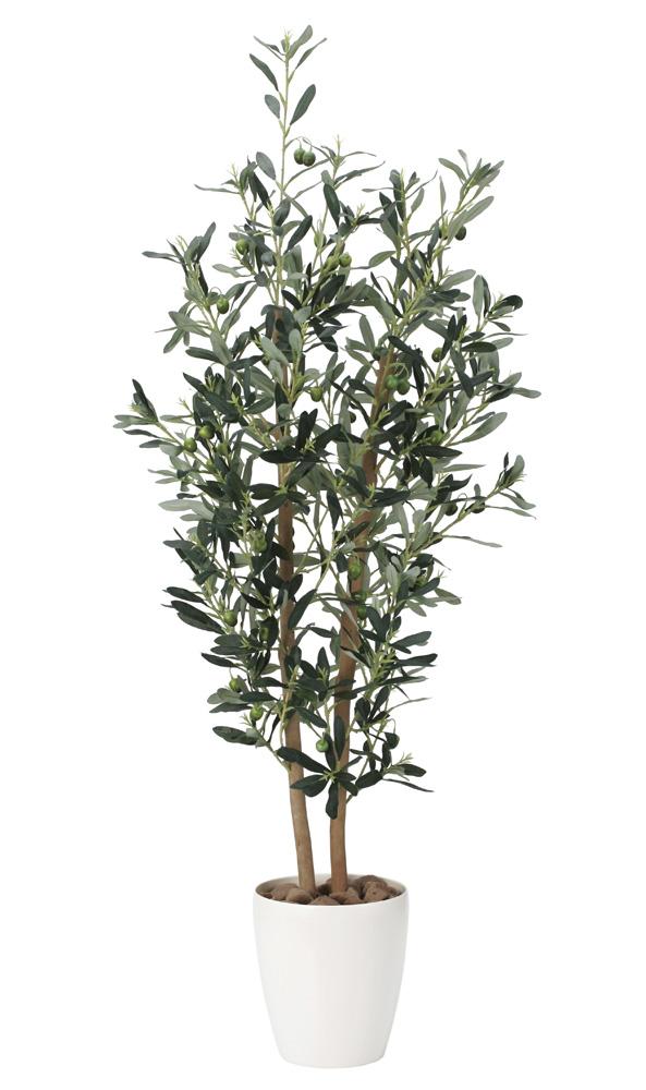 光触媒 光の楽園 オリーブ 高さ 1.2m 【インテリアグリーン 人工観葉植物】 (869g240)