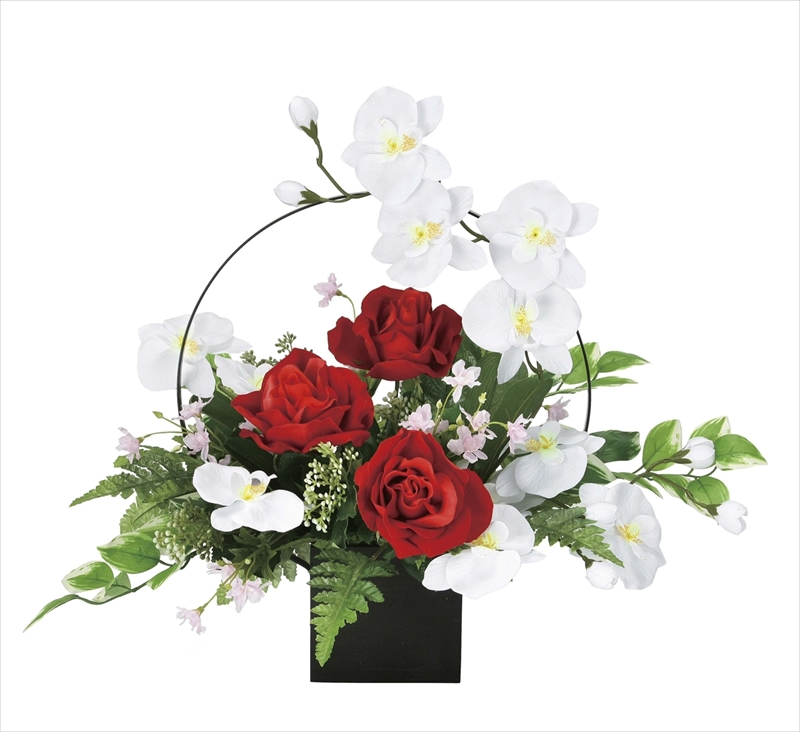光触媒 光の楽園ホワイトモダン【アートフラワー 造花 】(921a80)