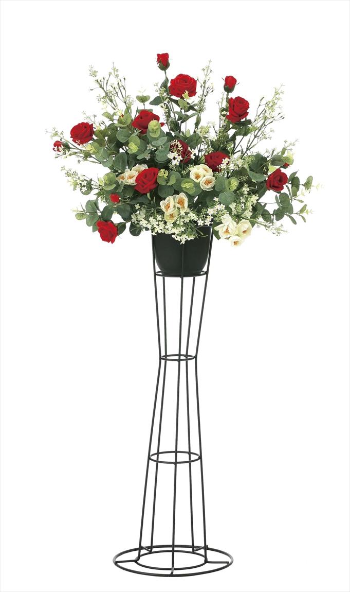 光触媒 光の楽園スカーレットローズスタンドM【アートフラワー 造花 】(※ラッピング不可)(925a200)