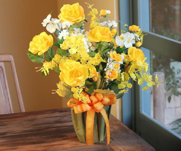 光触媒 光の楽園ハッピーローズ【アートフラワー 造花 】(acn021)
