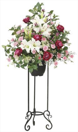 光触媒 光の楽園 ロイヤルスタンド高さ1.3m 【アートフラワー 造花 】 (2051a500)
