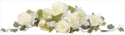 光触媒 光の楽園 キャベジローズスワッグCR 【アートフラワー 造花 】 (2078a35)