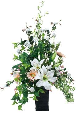 光触媒 光の楽園スタイリッシュカサブランカ【アートフラワー 造花 】(537a150)