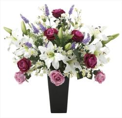 光触媒 光の楽園プレミアムカサブランカ【アートフラワー 造花 】(664a200)