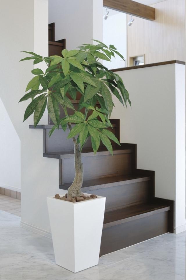 光触媒 光の楽園ロイヤルパキラ  1.35m【インテリアグリーン 人工観葉植物】(129a380)