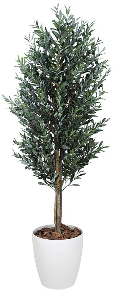 光触媒 光の楽園 オリーブ 高さ 1.6m 【インテリアグリーン 大型 人工観葉植物】 (148g580)