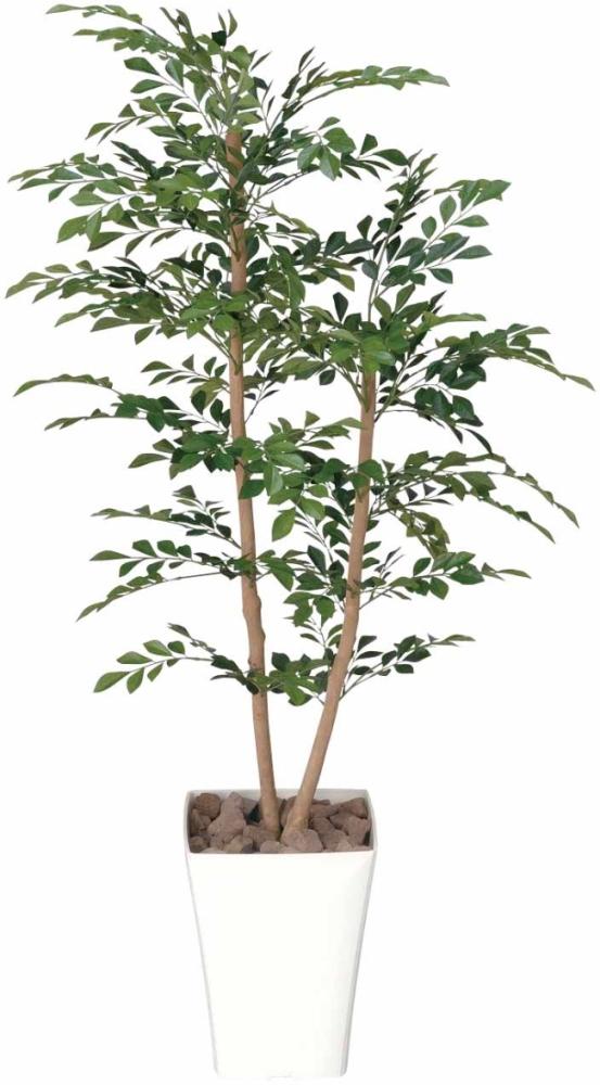 光触媒 光の楽園トネリコ 1.2m【インテリアグリーン 人工観葉植物】(184b200/184a180)