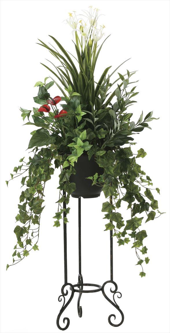 光触媒 光の楽園 グリーンスタンドユッカ 高さ 1.35m 【インテリアグリーン 人工観葉植物】 (2005a400)